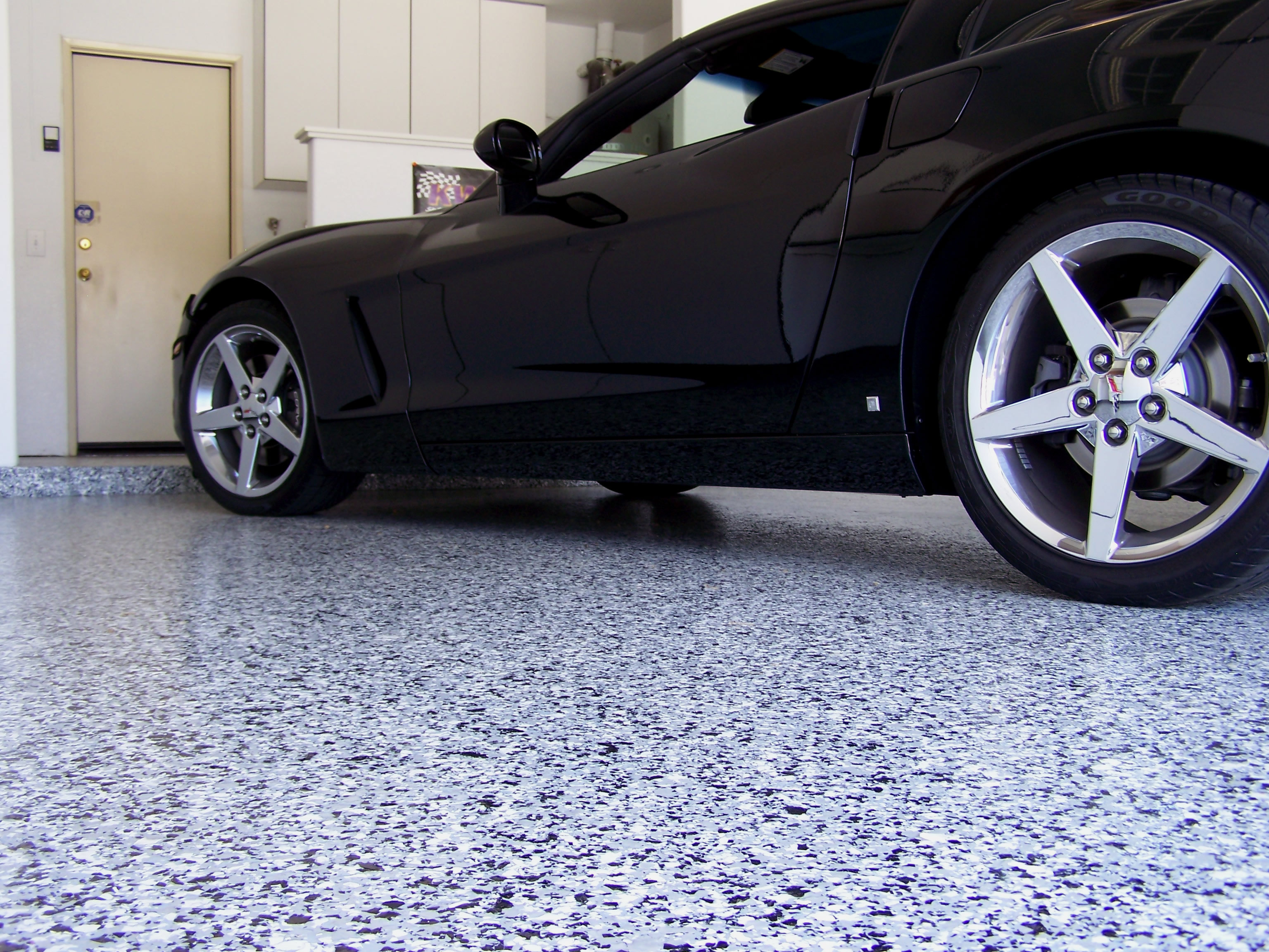 coating paint floor covering features pin concrete garage