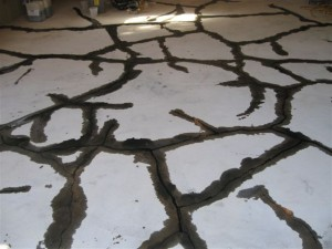 Filled Concrete Cracks