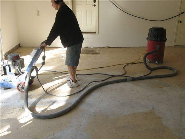 Removing Failed Epoxy Floors