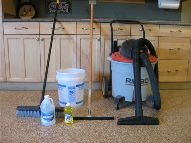 How to clean a g f one garage floor coating for How to clean garage floor